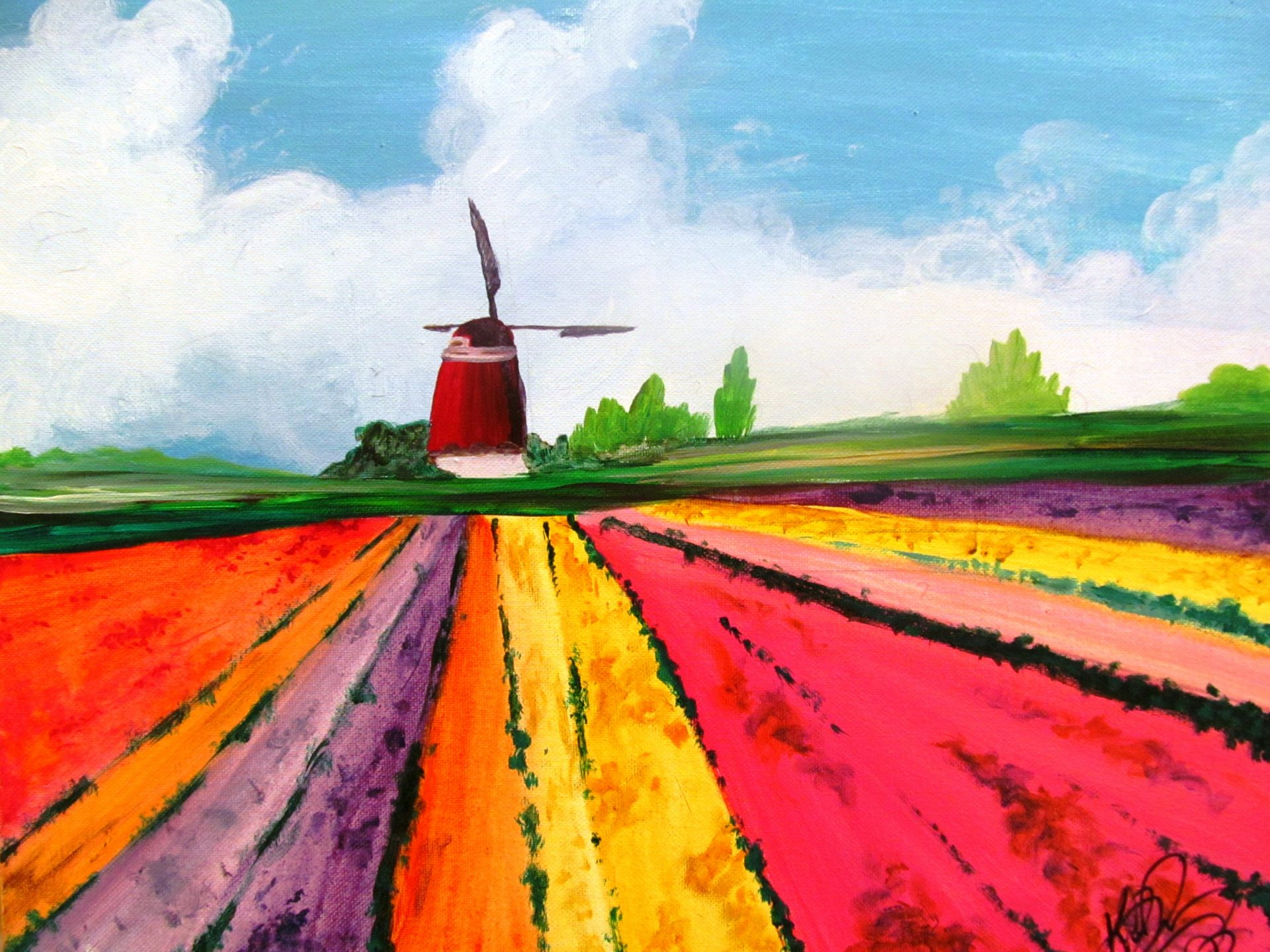 Cocktails And Canvas Tulip Fields Visarts