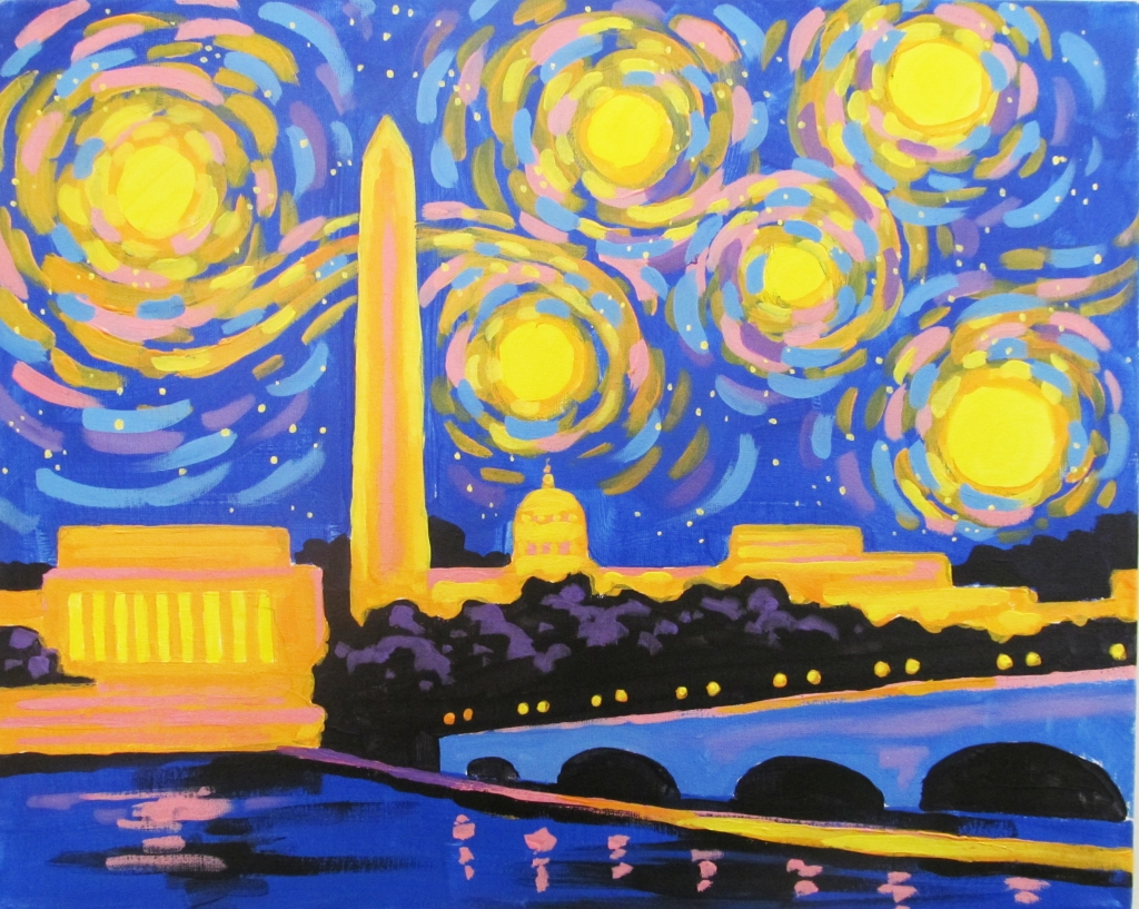 Cocktails And Canvas Starry Night Dc Visarts