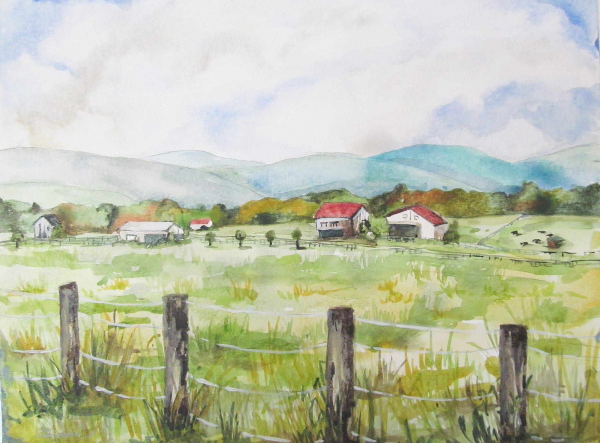 Beauty of Watercolor - Pennsylvania Farm Scene | VisArts