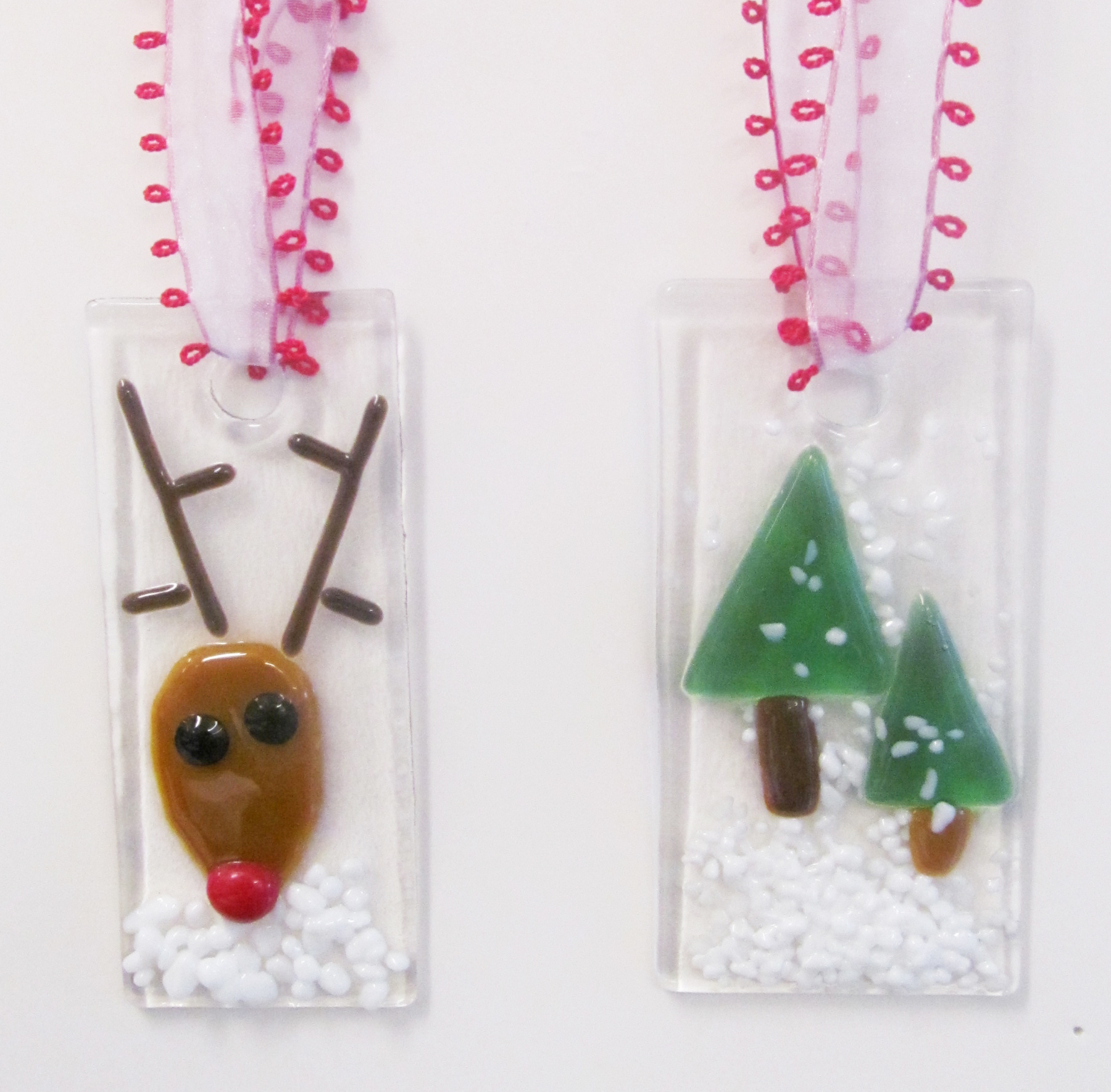 Fused glass holiday ornaments visarts