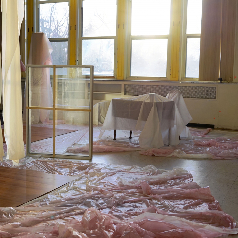 Cici Wu, A room with voices makes it less lonely, 2015 Found objects (Installation view of Project 837 Part 1)