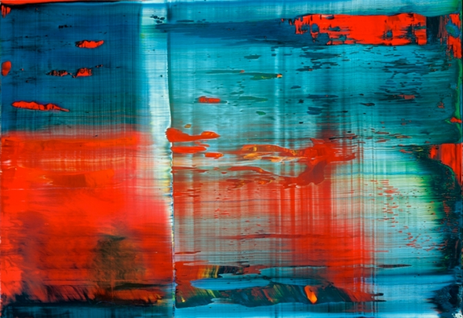 Abstract Squeegee Painting VisArts
