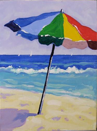 Tails And Canvas Beach Umbrella