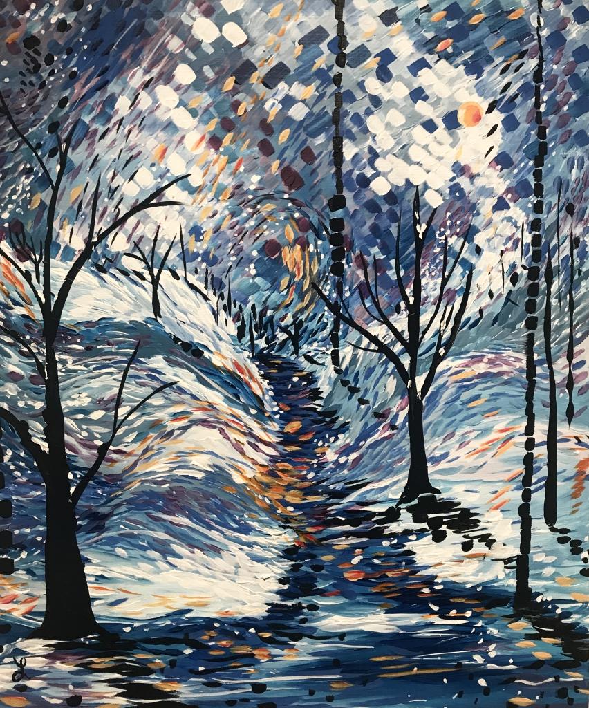 "Leah Schaperow, ""Lost"", 2017, Acrylic on wood, 24"" x 20"""