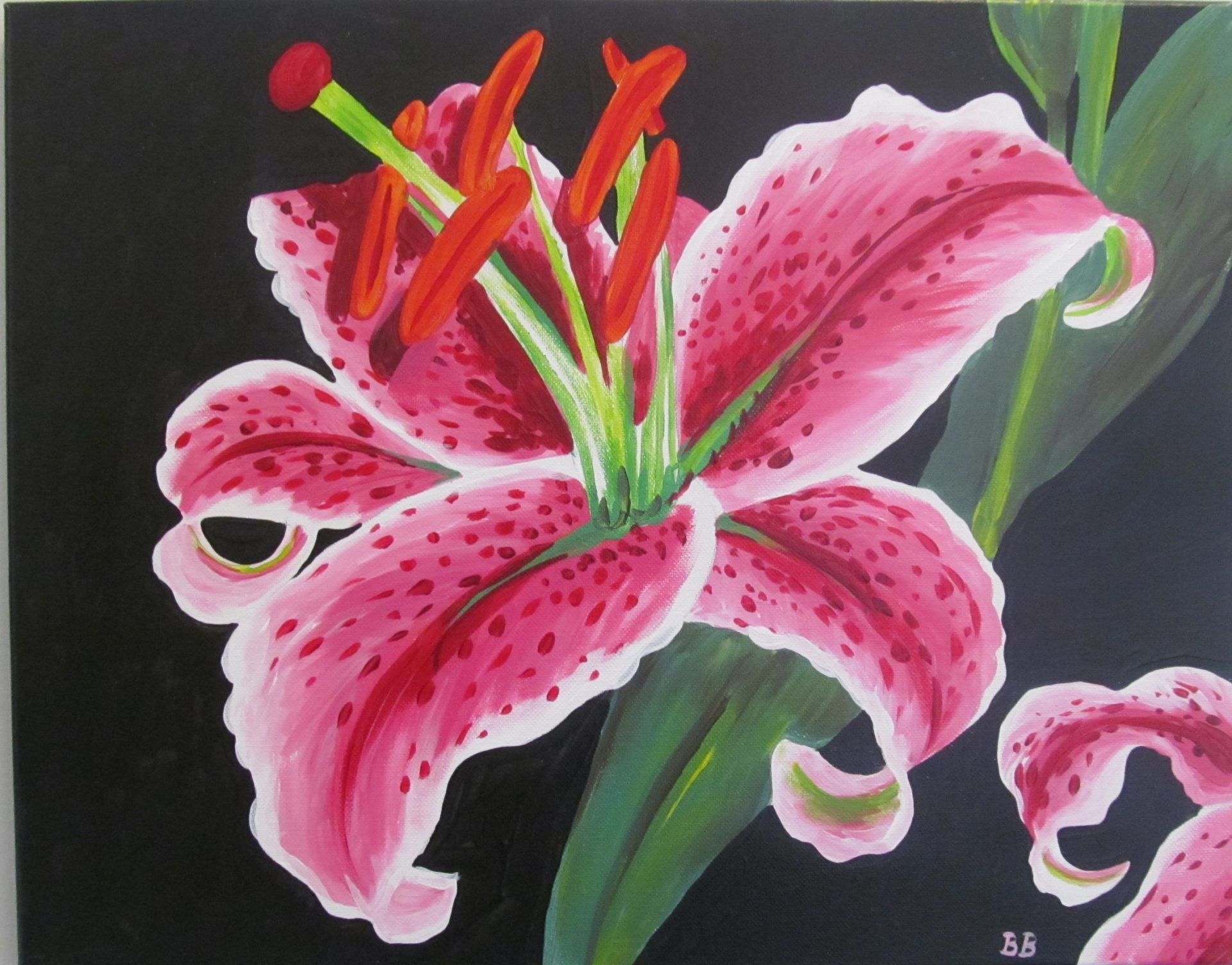 Cocktails And Canvas Stargazer Lily Visarts