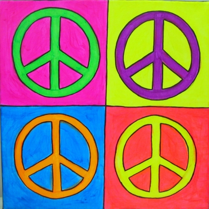 peace signs light