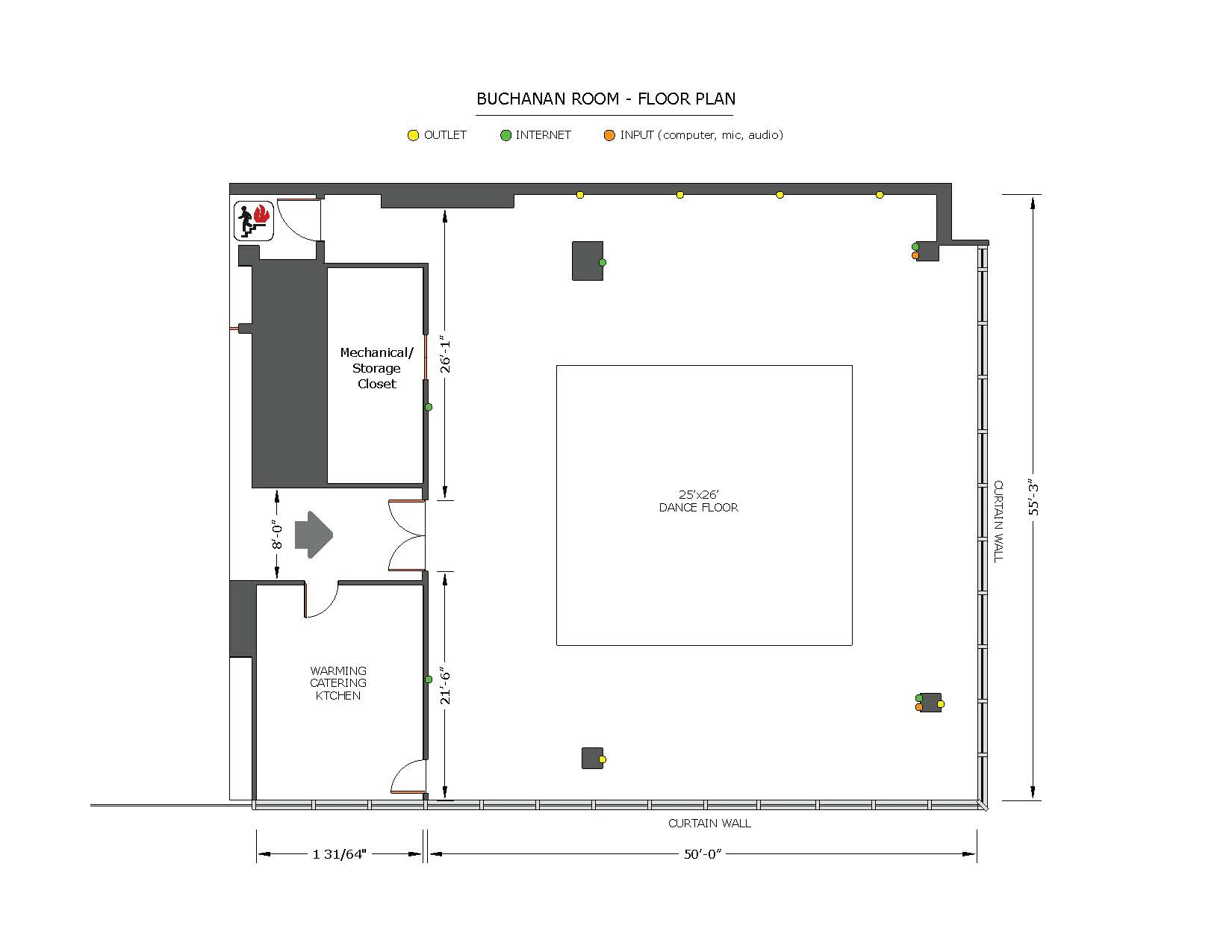 Buchannan Room Floor Plan