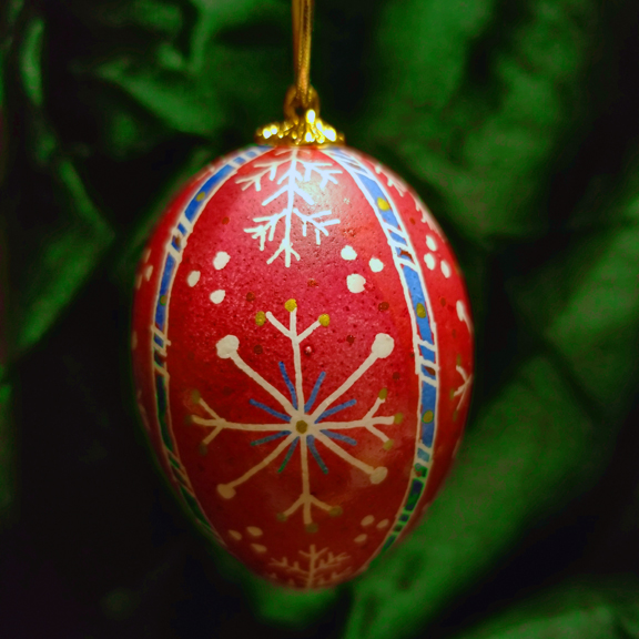 Ukrainian Egg Christmas Decorations