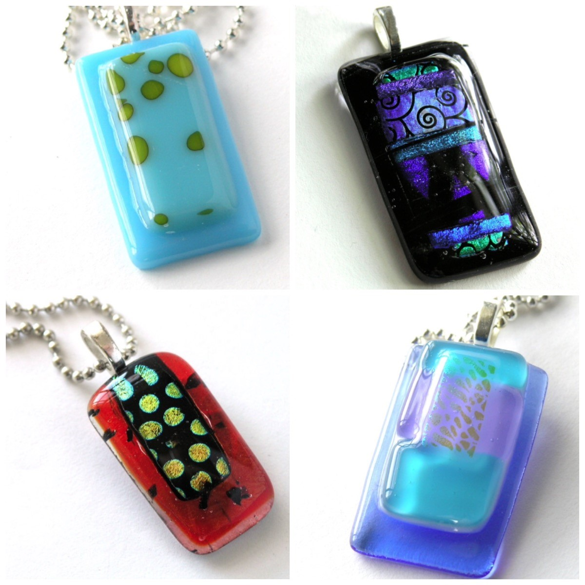 fused handmade img oh by with product jewelry colors pendant la glass dichroic unusual multicolored brilliant shape