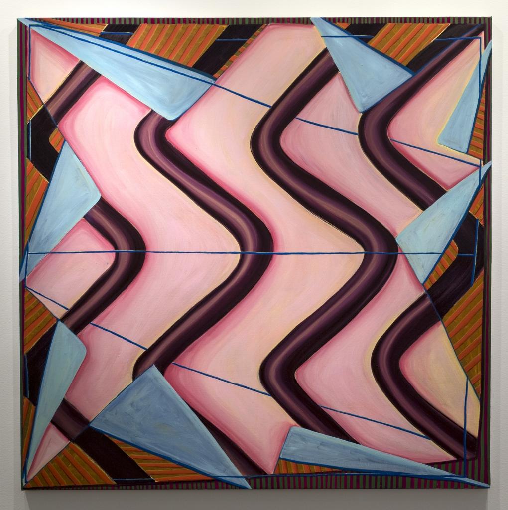 Mary Anne Arntzen, Siren, 2017, oil on canvas, 72 x 72 inches