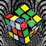 justin v. Rubix Cube Drawing copy